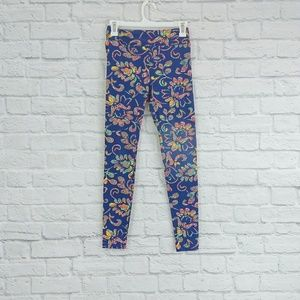 LulaRoe | Leggings Blue Multi-Color Stained Glass